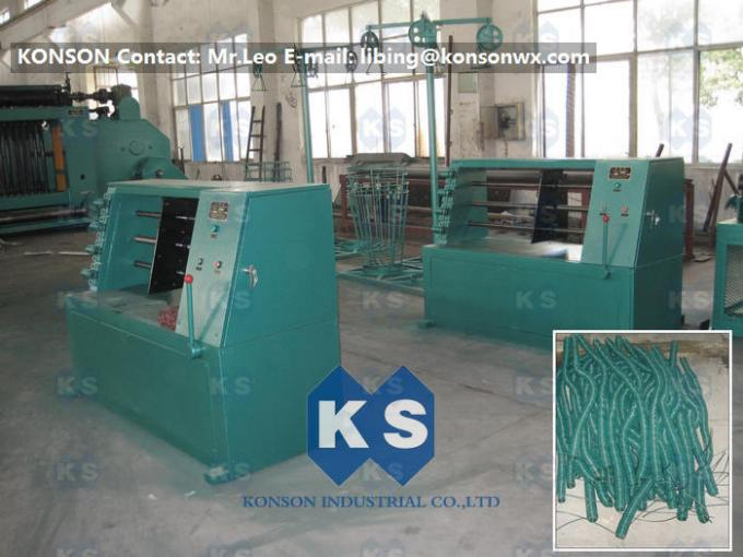 Winding Wire Mesh Gabion Production Line 1200mm Length 4mm Wire Spiral Coiling Machine
