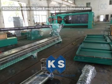 Cina Customized High Efficiency Gabion Box Machine With PLC 100 * 120mm Mesh Size pemasok