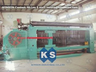 Cina Double Rack Drive Gabion Mesh Machine , Twisting Metal Hexagonal Wire Mesh Machine pemasok