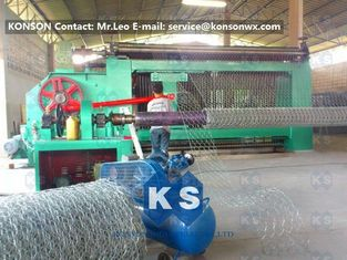 Cina Automatic Gabion Box Machine Making Hexagonal Fence With Automatic Stop System pemasok