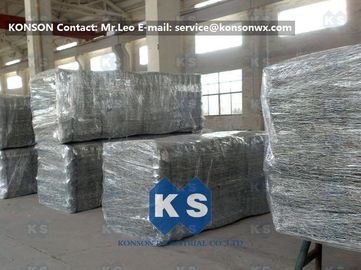 Heavy Zinc Galvanised Gabion Basket With Straight / Reverse Twisted Galfan Coated Wire