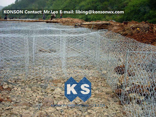 Flexible Steel Wire Mesh Gabion Rock Baskets Mountain Protect Mesh 80mm x 100mm