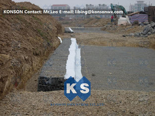 Cina Rock Gabion Retaining Wall Galfan Galvanized Hexagonal Baskets Gabion Boxes For Seaport pemasok