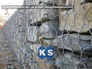 High Strength Hexagonal Wire Mesh Hot-Dip Galvanized Gabion Box Basket Construction