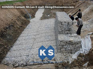 Cina Heavy Galvanized Gabion Basket Retaining Wall Of Twisted Hexagonal Wire Mesh pabrik