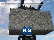 Gabion Revetments Mesh Fencing Gabion Cages / Gabion Basket Construction