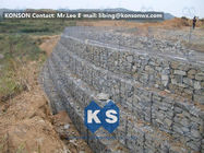 Cina Galvanized Wire Gabion Retaining Walls Plastic or Stainless Steel Wire PE Coating Gabion Mattress pabrik